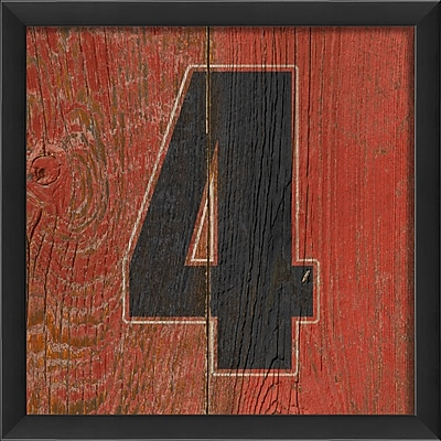 The Artwork Factory Number Four Framed Textual Art