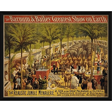 The Artwork Factory The Realistic Jungle Menagerire Framed Vintage Advertisement
