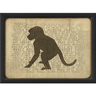 The Artwork Factory Monkey Silhouette Framed Graphic Art