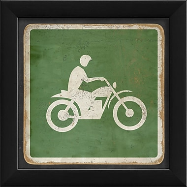 The Artwork Factory Sign Dirt Biking Framed Graphic Art; Blue