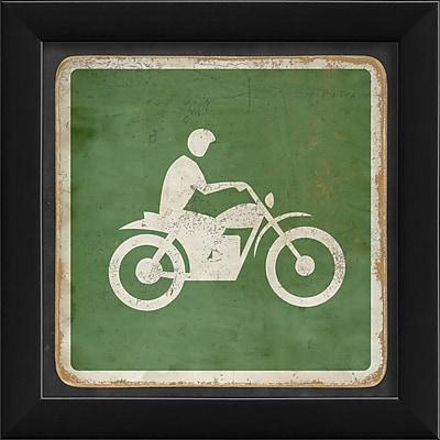 The Artwork Factory Sign Dirt Biking Framed Graphic Art; Blue
