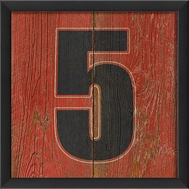 The Artwork Factory Number Five Framed Textual Art
