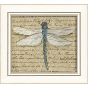 The Artwork Factory Dragonfly Framed Graphic Art; Blue