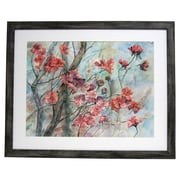Alpine Art and Mirror Premier Cherry Tree in Bloom Framed Painting Print