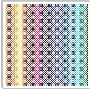 iCanvas Modern Pride Pattern ll Graphic Art on Canvas; 12'' H x 12'' W x 0.75'' D