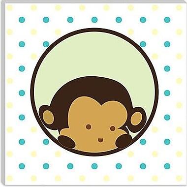 iCanvas Kids Children Monkey Face Spots Canvas Wall Art; 12'' H x 12'' W x 1.5'' D