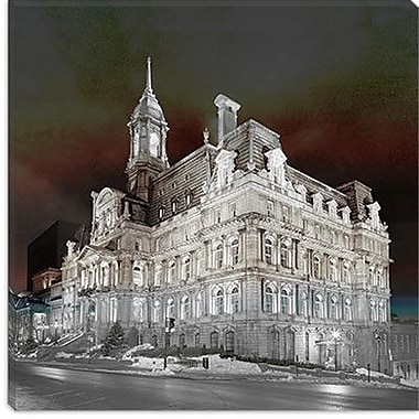 iCanvas Canada Montreal City Hall 3 Photographic Print on Canvas; 12'' H x 12'' W x 0.75'' D