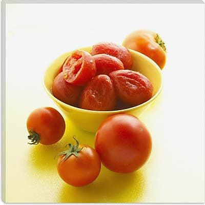iCanvas Food and Cuisine Tomatoes in Bowl Photographic Print on Canvas; 37'' H x 37'' W x 1.5'' D