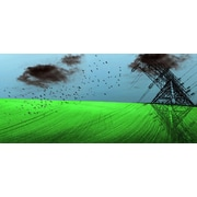 Carlyle Fine Art Landscape Electrified by Jordan Carlyle Graphic Art; 21'' x 48''