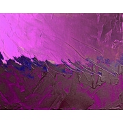 Carlyle Fine Art Abstract Violet Strokes by Jordan Carlyle Graphic Art; 15'' x 20''