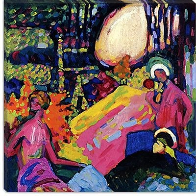 iCanvas ''White SoundI'' by Wassily Kandinsky Painting Print on Canvs; 12'' H x 12'' W x 0.75'' D