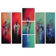 My Art Outlet Hanging Lanterns 7 Piece Painting on Canvas Set