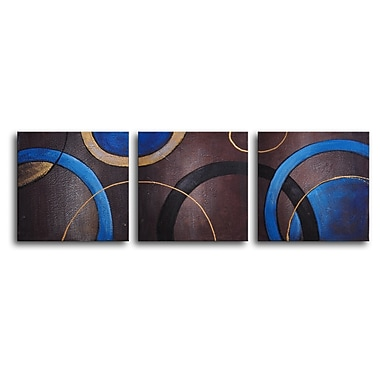 My Art Outlet Circulation 3 Piece Painting on Canvas Set