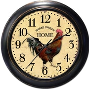 Ashton Sutton Decorative Home 18'' Classic Rooster Wall Clock