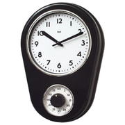 Bai Design 8.5'' Kitchen Timer Retro Modern Wall Clock; Black