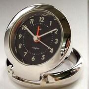 Bai Design Diecast Travel Alarm Clock; Futura Black Niteglow