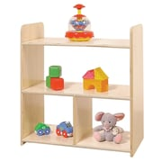 Wood Designs Tot Size Pass Through Double Sided 2 Compartment Shelving Unit