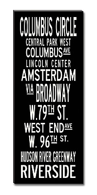 Uptown Artworks Upper West by Uptown Artworks Framed Textual Art on Wrapped Canvas; 50'' H x 20'' W