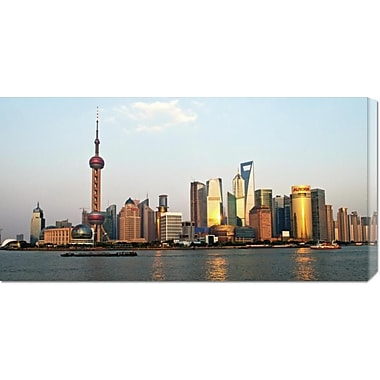 Global Gallery 'Shanghai Skyline' by Xiaoyang Liu Photographic Print on Wrapped Canvas