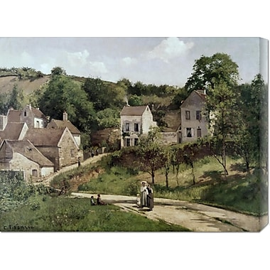 Global Gallery 'Country Road' by Camille Pissarro Painting Print on Wrapped Canvas