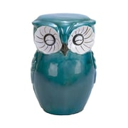 Woodland Imports Ceramic Owl Shaped Stool