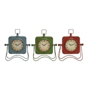 Woodland Imports Adorable Metal Table Clock (Set of 3)