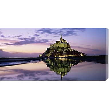 'Mont-St.-Michel at Dusk (detail)' by Roy Rainford Photographic Print on Wrapped Canvas