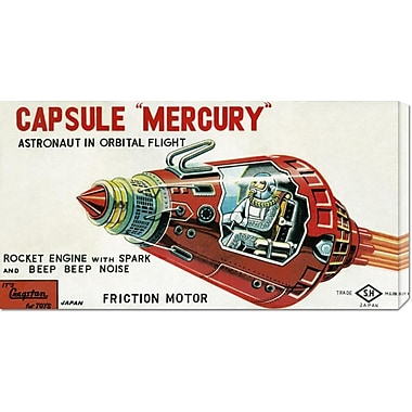 Global Gallery 'Capsule Mercury' by Retrobot Vintage Advertisement on Wrapped Canvas