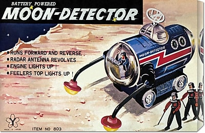 Global Gallery 'Moon-Detector' by Retrotrans Vintage Advertisement on Wrapped Canvas