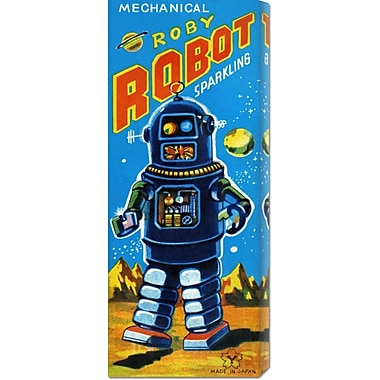 Global Gallery 'Roby Robot' by Retrobot Vintage Advertisement on Wrapped Canvas