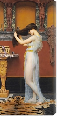 Global Gallery 'The Toilet' by John William Godward Painting Print on Wrapped Canvas