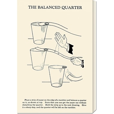 Global Gallery 'The Balanced Quarter' by Retromagic Vintage Advertisement on Wrapped Canvas