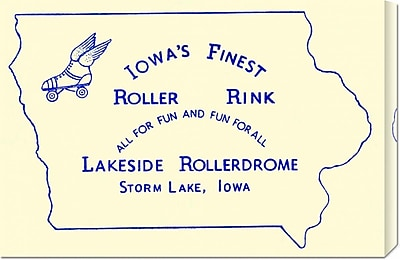 Global Gallery 'Iowa's Finest Roller Rink' by RetroRollers Vintage Advertisement on Wrapped Canvas