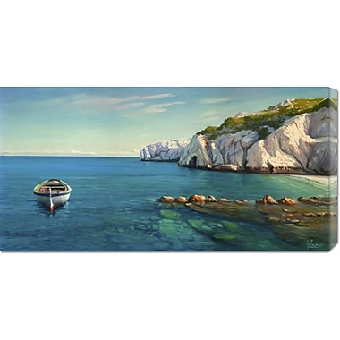 Global Gallery 'Caletta mediterranea' by Adriano Galasso Painting Print on Wrapped Canvas