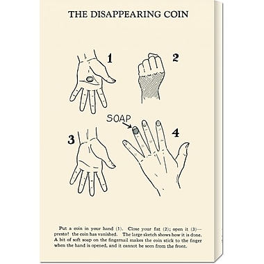 Global Gallery 'The Disappearing Coin' by Retromagic Vintage Advertisement on Wrapped Canvas