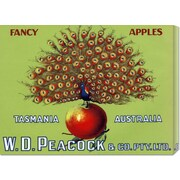 Global Gallery 'W.D. Peacock Fancy Apples' by Retrolabel Vintage Advertisement on Wrapped Canvas
