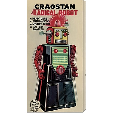 Global Gallery 'Cragstan Radical Robot' by Retrobot Vintage Advertisement on Wrapped Canvas