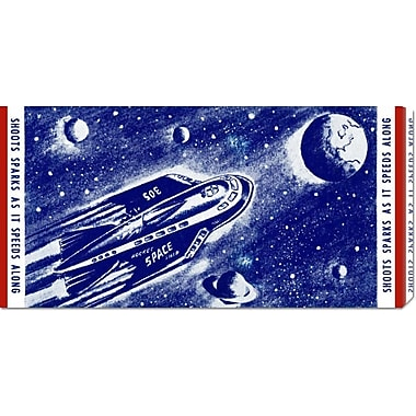 Global Gallery 'Rocket Space Ship 305' by Retrorocket Vintage Advertisement on Wrapped Canvas