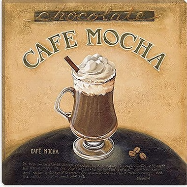iCanvas 'Cafe Mocha' by Lisa Audit Vintage Advertisement on Canvas; 18'' H x 18'' W x 0.75'' D