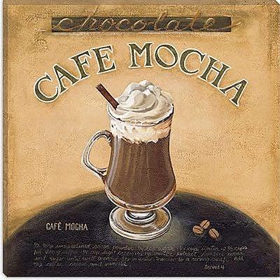 iCanvas 'Cafe Mocha' by Lisa Audit Vintage Advertisement on Canvas; 12'' H x 12'' W x 1.5'' D