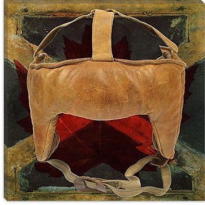 iCanvas Canada Hockey Mask #8 Graphic Art on Canvas; 12'' H x 12'' W x 0.75'' D