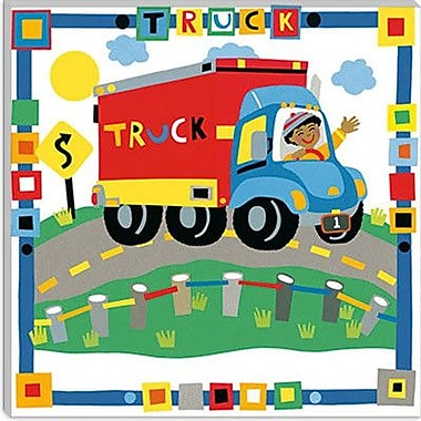 iCanvas ''Truck'' by Cheryl Piperberg Graphic Art on Wrapped Canvas; 37'' H x 37'' W x 0.75'' D