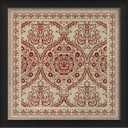 The Artwork Factory Tile 9 Framed Graphic Art; Red