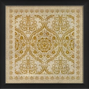The Artwork Factory Tile 9 Framed Graphic Art; Yellow