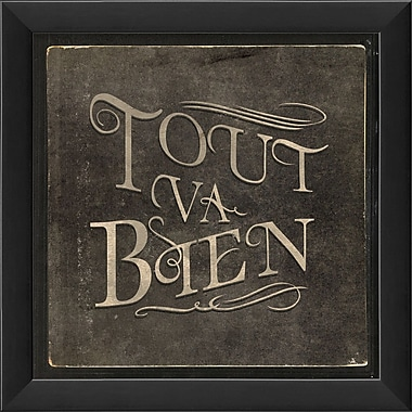 The Artwork Factory French Phrases Tout Va Bien Framed Textual Art