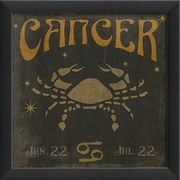 The Artwork Factory Zodiac Cancer Framed Graphic Art