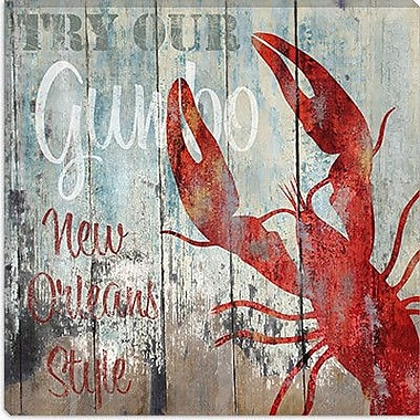 iCanvas ''New Orleans Seafood'' Canvas Wall Art by Color Bakery; 26'' H x 26'' W x 0.75'' D