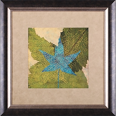 Art Effects Teal Leaf II by Louise Montillo Framed Painting Print