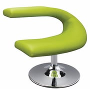 Creative Images International Leatherette Side Chair; Green
