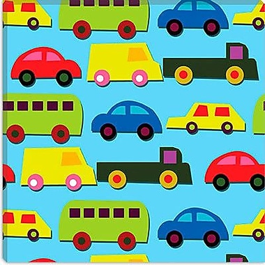 iCanvas ''Traffic (Cars)'' by Daniela Bruni Graphic Art on Wrapped Canvas; 37'' H x 37'' W x 1.5'' D